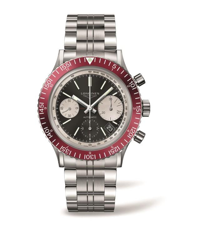 浪琴表復刻系列1967復刻潛水腕錶(L2.808.4.52.6),建議售價NT$103,700