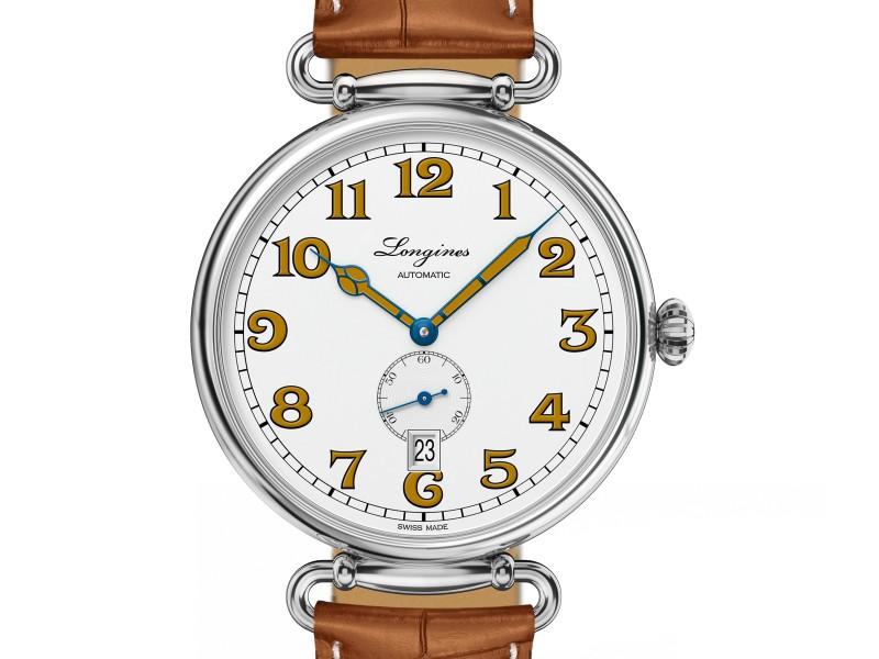浪琴表復刻系列1918腕錶 (L2.809.4.23.2),建議售價NTD58,800
